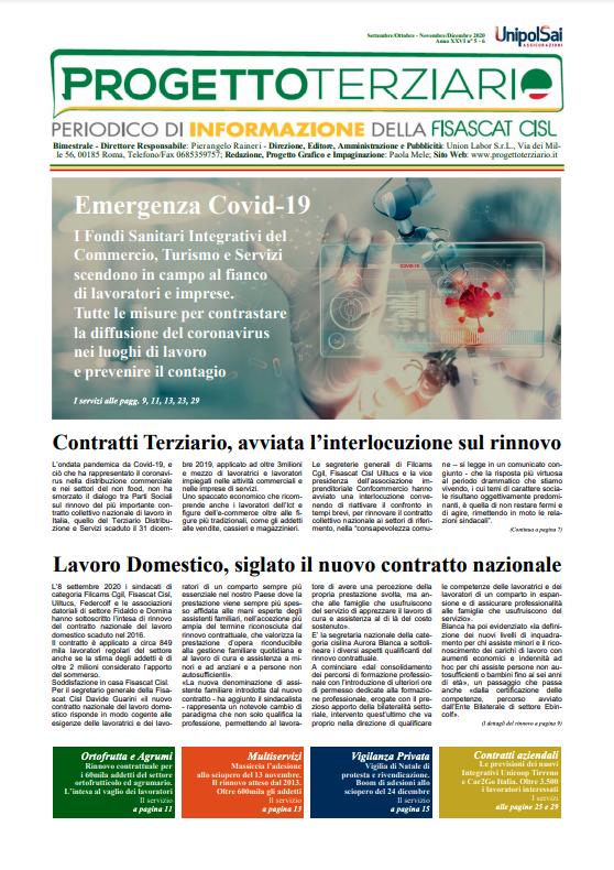 Progetto Terziario - Settembre/Ottobre Novembre/Dicembre 2020